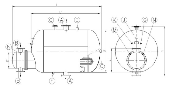 Rysunek wymiennika WP 6-6_1-1