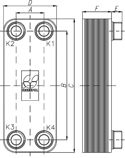 Rysunek wymiennika płytowego LC-170