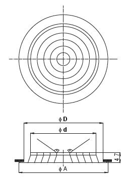 Rysunek nawiewnika NCD-150