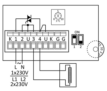PULSER - schemat podłączeń elektrycznych