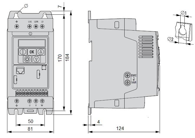 Rysunek falownika DC1