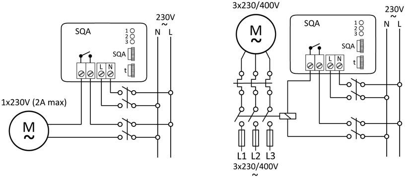 SQA - schemat podłączeń elektrycznych