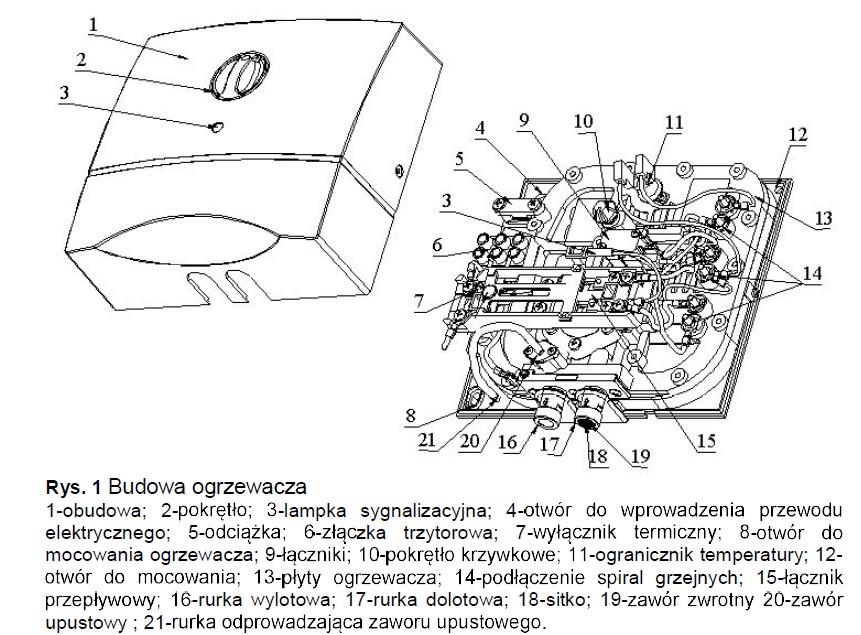 Budowa ogrzewacza OP-5U