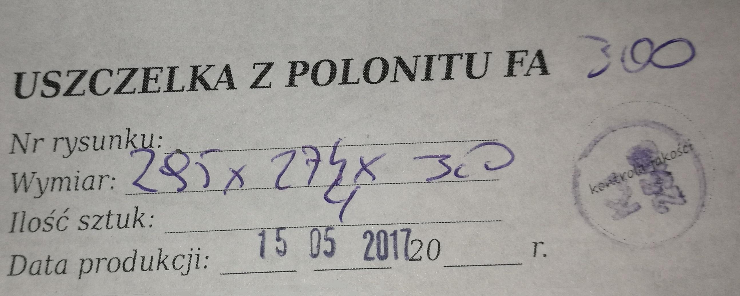 Uszczelka WP 6/16-3/2 - etykieta